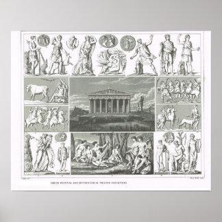Figuras legendarias del griego clásico póster