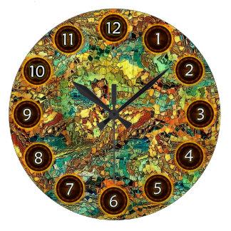Figuras ocultadas por el rafi talby reloj redondo grande
