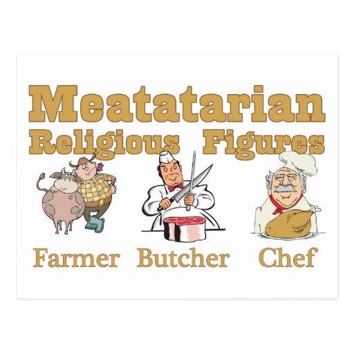 Figuras religiosas de Meatatarian Postales