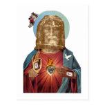Figuras religiosas de Steampunk Dada (bendición Da Tarjetas Postales