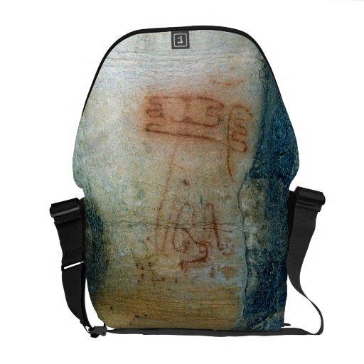 Figuras simbólicas (pintura de cuevas) bolsa de mensajeria