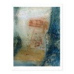 Figuras simbólicas (pintura de cuevas) postal