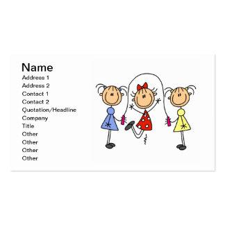 Figuras tarjetas del palillo de visita de la cuerd tarjeta de visita