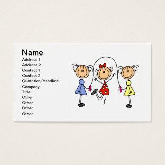 Figuras tarjetas del palillo de visita de la tarjetas de visita