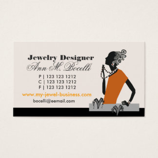 Figurative  Beads Jewelry Designer Artist Fashion Business Card