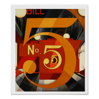 Figure 5 in Gold by Charles Demuth Poster