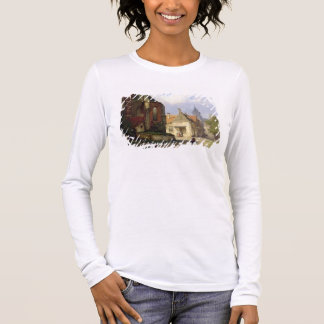 Figure before a Redbrick Church in a Dutch Town (o Long Sleeve T-Shirt