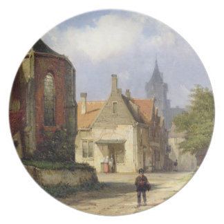 Figure before a Redbrick Church in a Dutch Town (o Plate