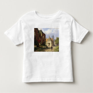 Figure before a Redbrick Church in a Dutch Town (o Toddler T-shirt