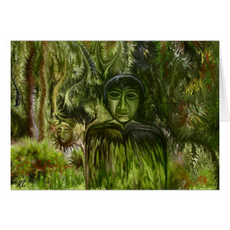 Figure in the Forest by rafi talby Greeting Cards