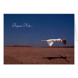 Figure Kite Card