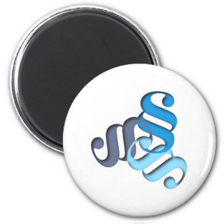 Figure letter paragraph shape type character 2 inch round magnet
