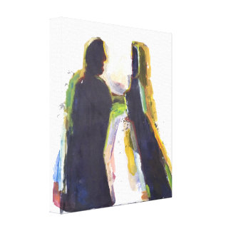Figure Modern  Abstract  Expressionist Painting Canvas Print