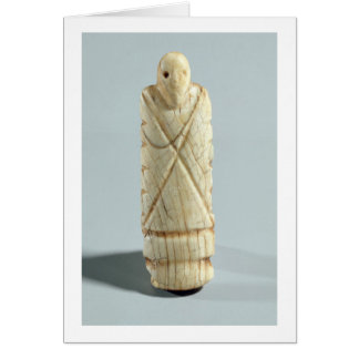 Figure of a bearded man (elephant ivory) card