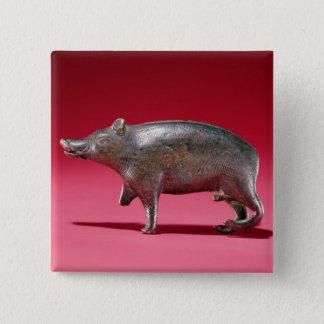 Figure of a Boar Button