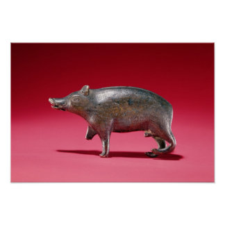 Figure of a Boar Poster