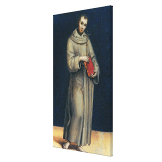 Figure of a Franciscan Monk Canvas Print