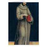 Figure of a Franciscan Monk Greeting Card