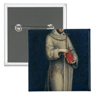 Figure of a Franciscan Monk Pinback Button