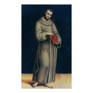 Figure of a Franciscan Monk Poster