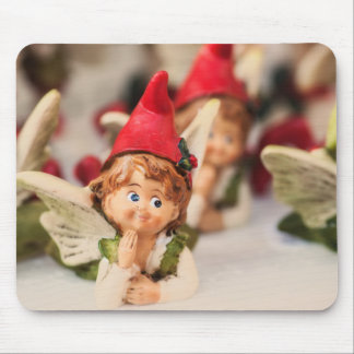 Figure Of A Little Angel, Christmas Decoration Mouse Pad