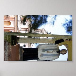 Figure of a missionary, Sri Lanka Poster
