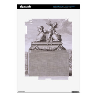 Figure of a sphinx in white marble, carrying a bro skin for iPad 3