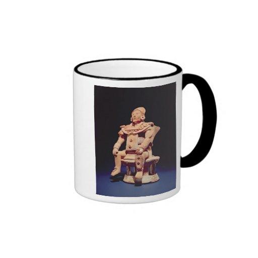 Figure of a warrior in full regalia ringer coffee mug
