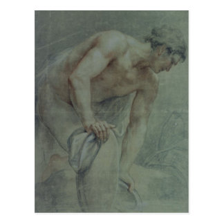 Figure of a Warrior, partly draped, 18th century Postcard