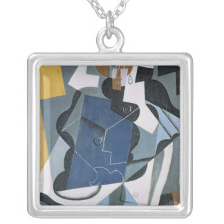 Figure of a Woman, 1917 Square Pendant Necklace
