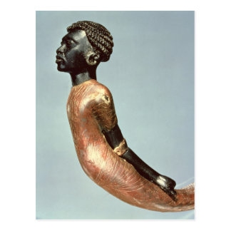 Figure of an African man from end of Postcard