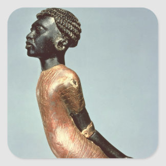 Figure of an African man from end of Square Sticker