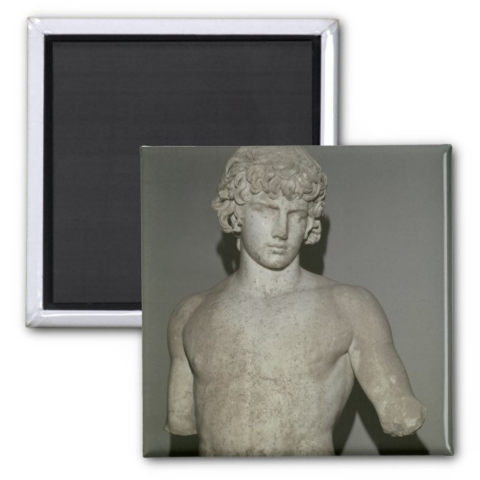 Figure of Antinous, after 130 AD 2 Inch Square Magnet