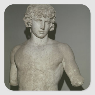 Figure of Antinous, after 130 AD Square Sticker