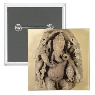 Figure of Ganapati, Chandella Dynasty (sandstone) Button