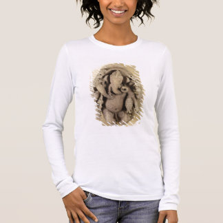 Figure of Ganapati, Chandella Dynasty (sandstone) Long Sleeve T-Shirt