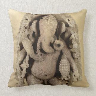 Figure of Ganapati Chandella Dynasty sandstone Throw Pillow