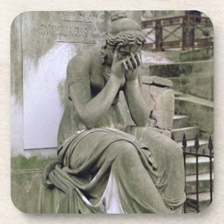 Figure of Grief, from the tomb of Pierre Gareau (d Drink Coaster