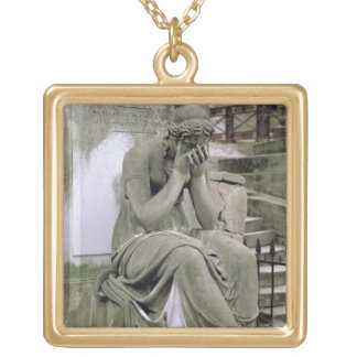 Figure of Grief, from the tomb of Pierre Gareau (d Gold Plated Necklace