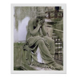 Figure of Grief, from the tomb of Pierre Gareau (d Poster