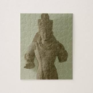Figure of Lord Vishnu, Mathura (red sandstone) Jigsaw Puzzle