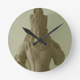 Figure of Lord Vishnu, Mathura (red sandstone) Round Clock