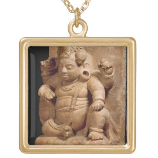 Figure of Siva as Vamana, Mansar Maharashtra (red Gold Plated Necklace