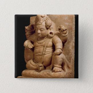 Figure of Siva as Vamana, Mansar Maharashtra (red Pinback Button