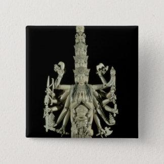 Figure of the Hindu Goddess Kali Pinback Button