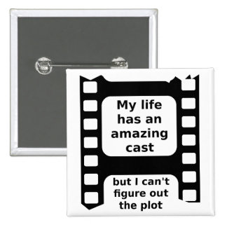 Figure Out The Plot Funny Button Badge