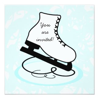 Figure Skate Skate Party Invitations