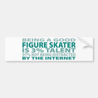 Figure Skater 3 Talent Bumper Sticker