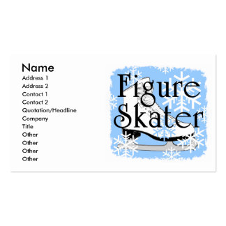 Figure Skater Business Card Template
