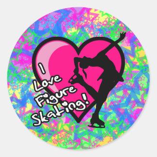 Figure Skater - Colorful Stars Large Sticker